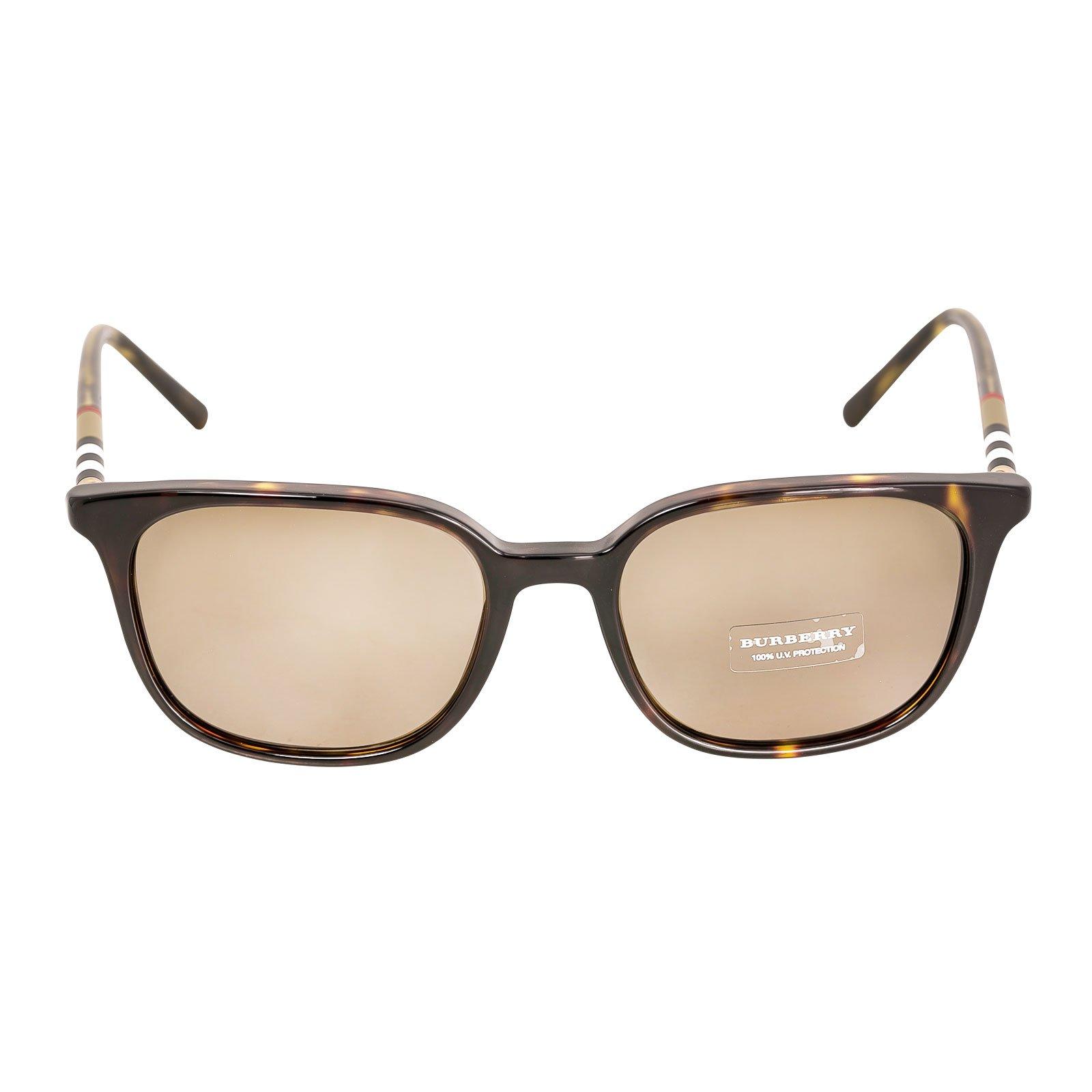 Burberry Men's BE4144 Sunglasses Dark Havana / Brown 54mm