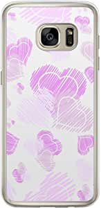 Loud Universe Samsung Galaxy S7 Edge Love Valentine Files Valentine 123 Printed Transparent Edge Case - White/Purple