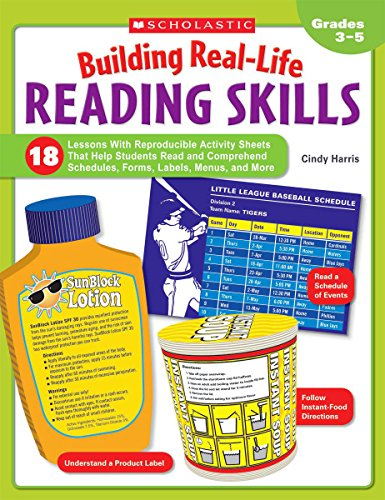 Building Real-Life Reading Skills: 18 Lessons With Reproducible Activity Sheets That Help Students Read and Comprehend Schedules, Forms, Labels, Menus, and (Reading Activity Sheets)