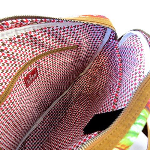 Lois Jean [N5957] - Sac créateur 'Lois Jean' marron multicolore (spécial ordinateur) - 38x29x7. 5 cm