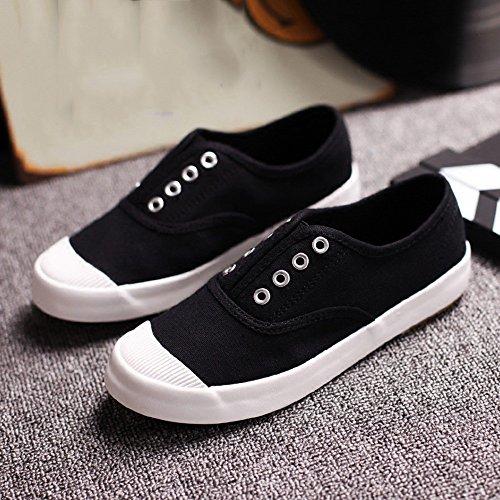 Round Femmes gris 5 noir chaussures Toile NAN EU37 plates UK4 Gris Chaussures chaussures paresseux Toe confortable Couleur taille blanc CN37 Casual 5 d'été qnAz1Ond