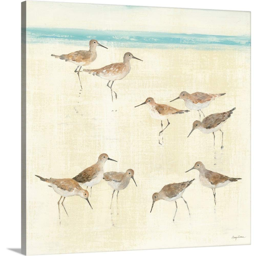 Avery Tillmonプレミアムシックラップキャンバス壁アート印刷題名Sandpipers 30