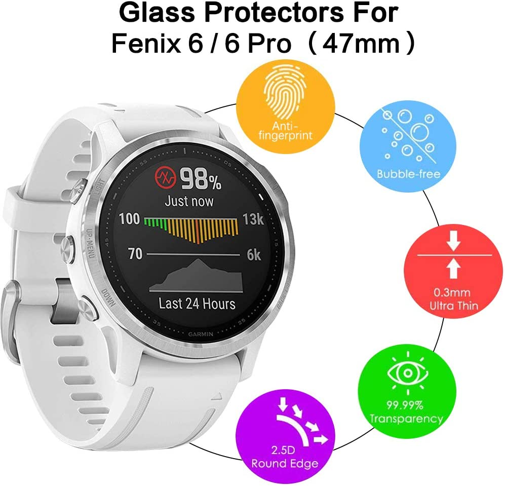 No para Fenix 6//6 Pro//6X Pro 99/% HD 3 Pack KIMILAR Pantalla Compatible con Garmin Fenix 6S //Fenix 6S Pro//Huawei GT Protectores de Pantalla Cristal Templado Protector para Garmin Fenix 6s