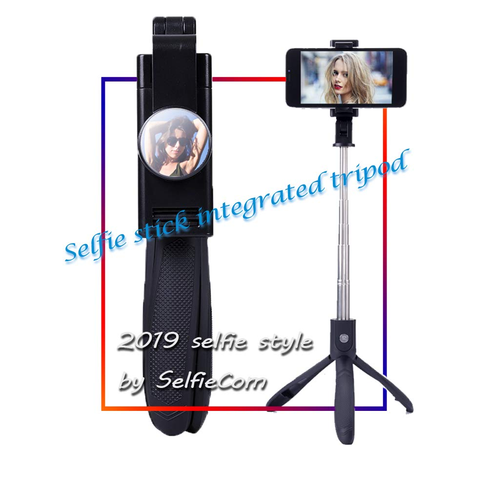 quality design 6fa51 4d63b SelfieCom Wireless Selfie Stick Tripod for iPhone X with Mirror Extendable  Monopod with Detachable Remote and Tripod Stand for iPhone X/XS/XR/XS ...