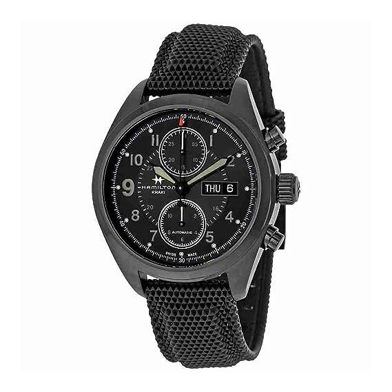 Hamilton - Reloj Hombre HAMILTON Khaki Field Auto Chrono h71626735 pulsera piel - h71626735: Amazon.es: Relojes