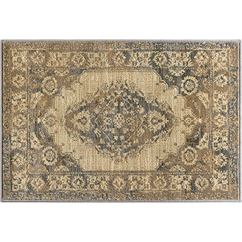 Universal Rugs SNS4902 2x3 Fiona Mat Scatter Rug, 2' x 3', Ivory