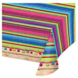 "Creative Converting 324357 All Over Print Plastic Table cover, 54 x 102"", Serape"
