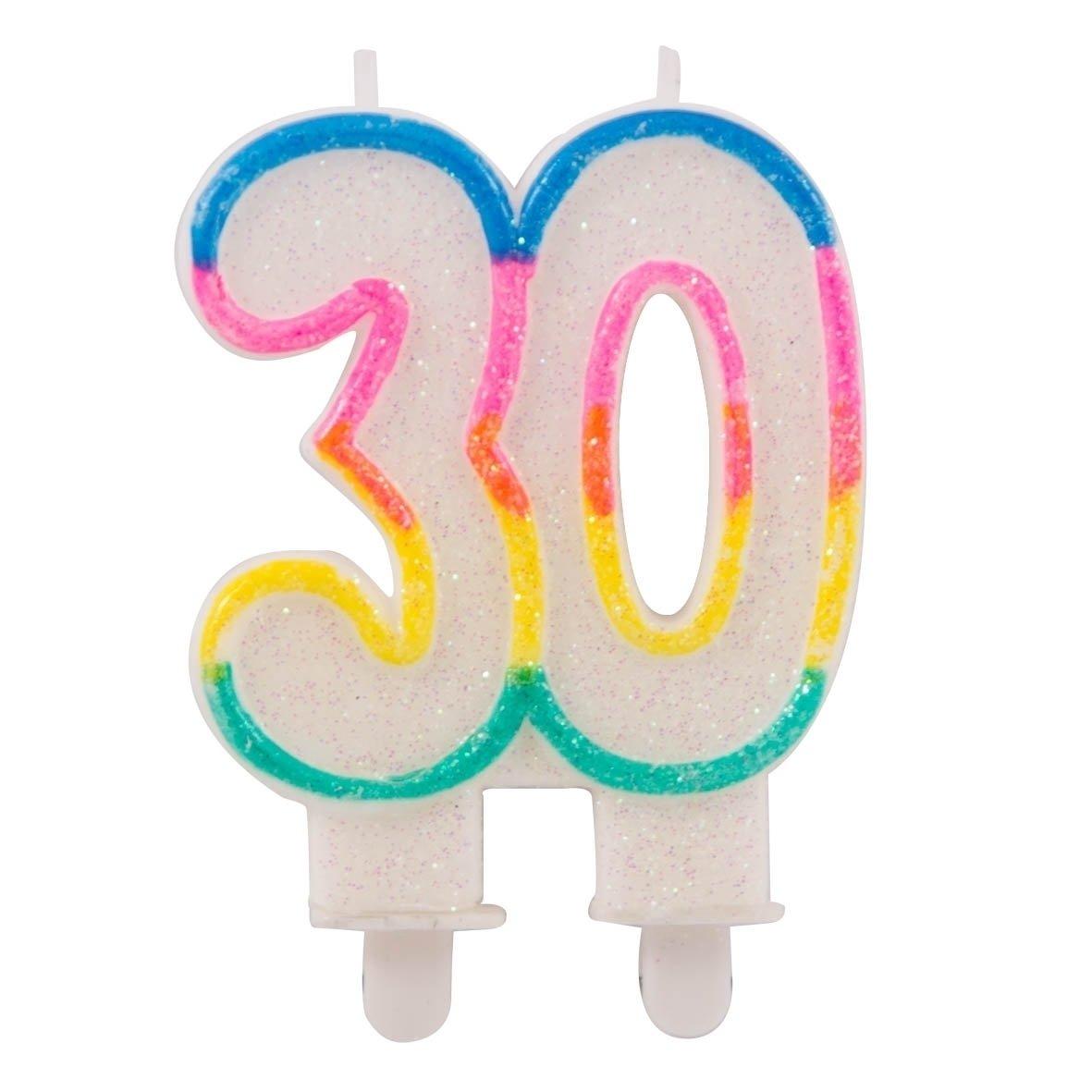 Folat Glitter Vela 30 Cumpleaños, Aniversarios: Amazon.es ...