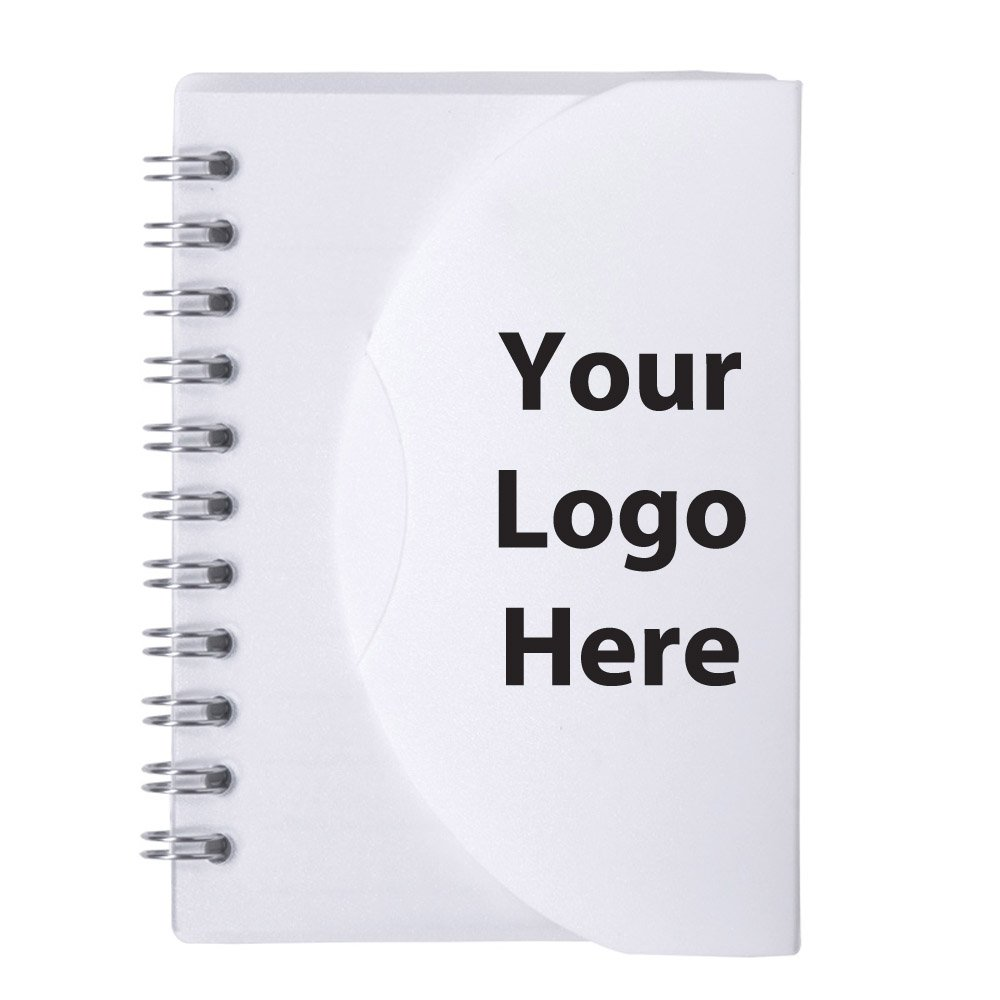 Small Spiral Curve Notebook - 150 Quantity - $1.55 Each - PROMOTIONAL PRODUCT / BULK / BRANDED with YOUR LOGO / CUSTOMIZED