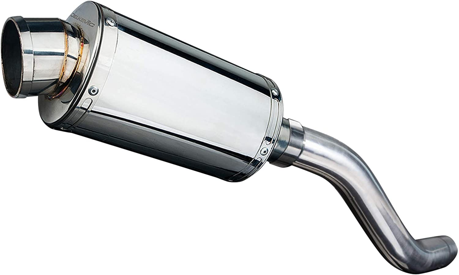 Delkevic Aftermarket Slip On compatible with Kawasaki Z800 SS70 9 Stainless Steel Oval Muffler Exhaust 13-16