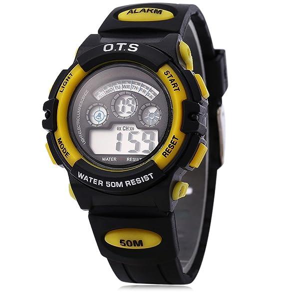 Leopardo tienda OTS 833 niños niña multifunción LED reloj Digital DEPORTE reloj de pulsera Agua Resistencia # 5: Amazon.es: Relojes