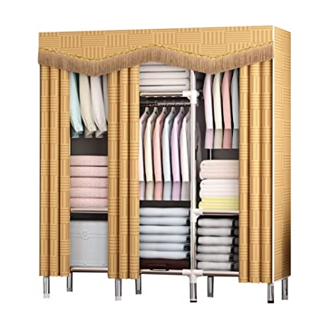 Amazon.com: YG-BY Wardrobes Fabric Wardrobe Thicker ...