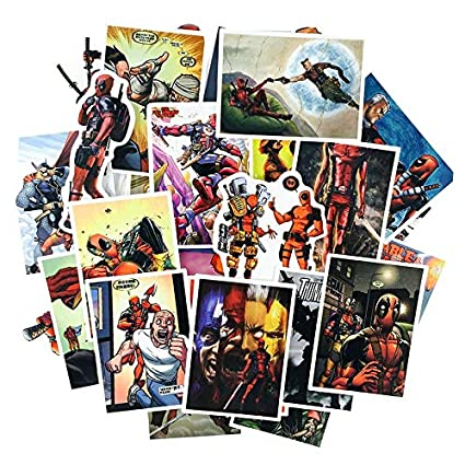 TUDUDU 40 Pcs Película Deadpool Dibujos Animados Impermeable ...