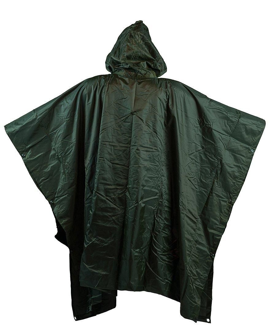 Regenponcho Poncho Oliv Regen-umhang Regenschutz Neu Um Jeden Preis Bekleidung