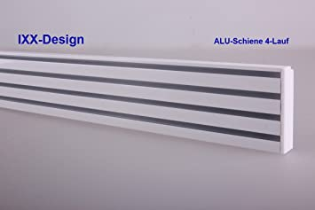 Gut gemocht ALU Schiene 4-Lauf , weiß, Gardinenschiene für Flächenvorhänge XE48