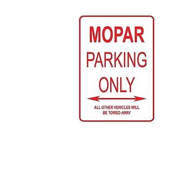 Adept Mechanism Mopar Parking Only Aluminium Plaque de Rue Cuisine & Maison