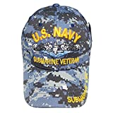 Army Gear Military U.S. Navy Submarine Veteran Blue Digital Camo Hat Men's Baseball Cap Dad Hat