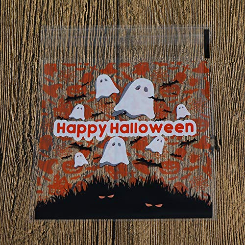 Bags Wrapping Supplies - 50pcs 100pcs Mixed Style Happy Halloween Cookie Candy Packaging Bag Self Adhesive Bags Plastic Seal - Bag Bag Party Bag Plastic Shop Bag With Packag Anime Plastic Plastic