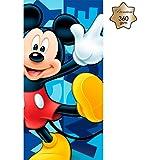 New Import Toalla de Playa con Diseño Mickey Mouse Algodón, 30x5x35 cm