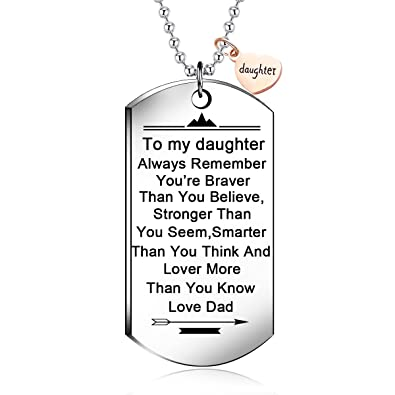 Amazon.com: NOVLOVE To my daughter from dad Stainless Steel Dog