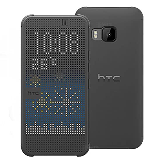 brand new 792f5 d0a7c HTC Dot View Case for HTC One (M8) - Retail Packaging (D-Gray)