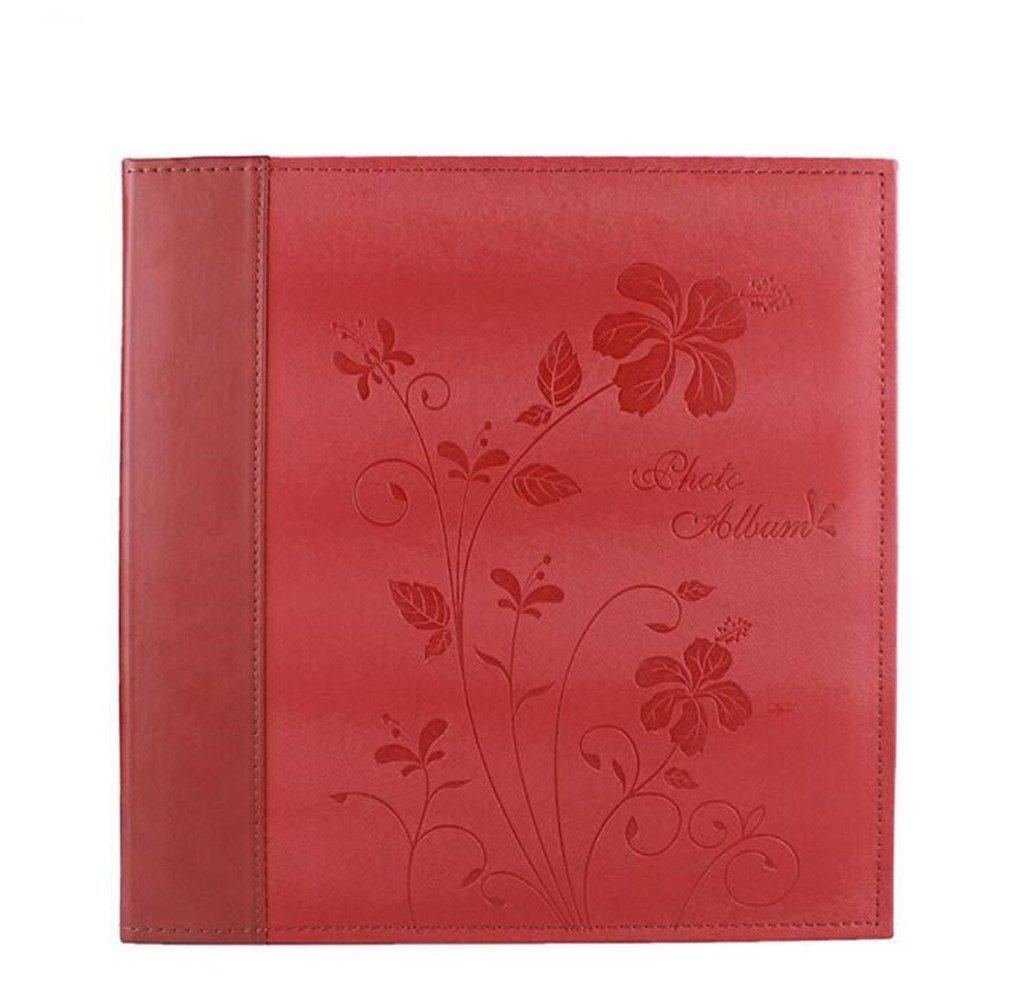 Fotoalbum Gehobenes Leder 20 Seiten 10R 10X12 Selbstklebend Diy Hochzeitsgedächtnis Groß Rot Braun,rot