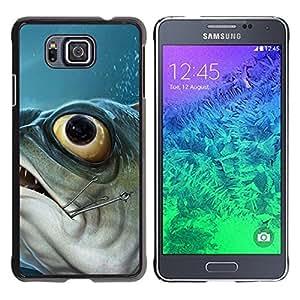 Be Good Phone Accessory // Dura Cáscara cubierta Protectora Caso Carcasa Funda de Protección para Samsung GALAXY ALPHA G850 // Piranha Fish Hook Fishing Fisherman Boat