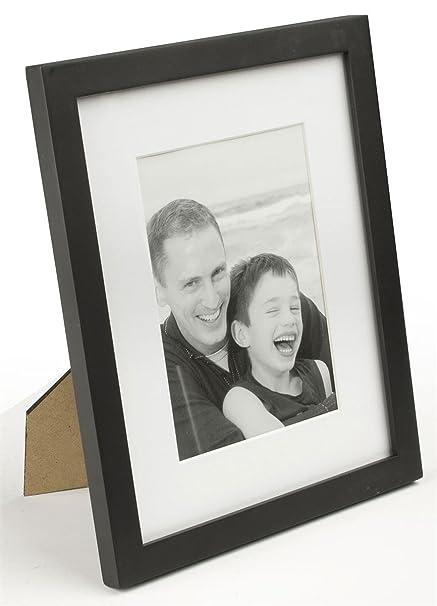 Black Wood Photo Frames in Three Sizes (4x6, 5x7, 8x10) - Pack of 4
