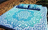 """King size Mandala Tapestry, Mandala Wall Art, Hippie Wall Hanging ,Bohemian Bedspread ,Indian Cotton Bedspread with 2 Pillow Covers, by """"Tanya Handicrafts"""""""