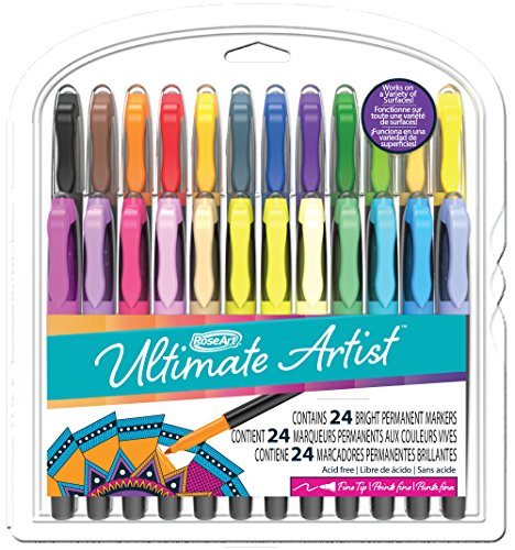 (Rose Art Ultimate Artist Fine Point Permanent Markers in Clamshell (24 Count))