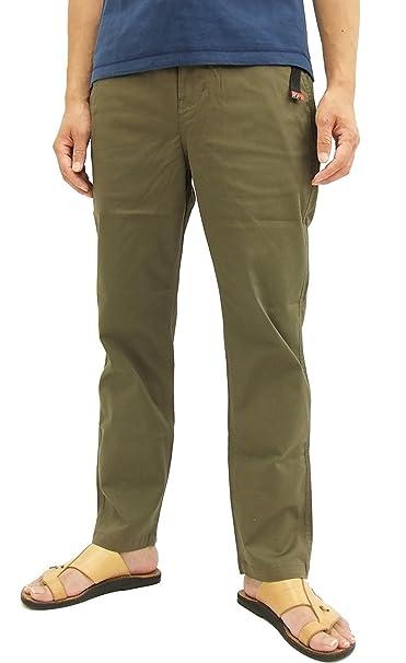 Amazon.com: De huellas de gato Frente plano Chino pantalones ...
