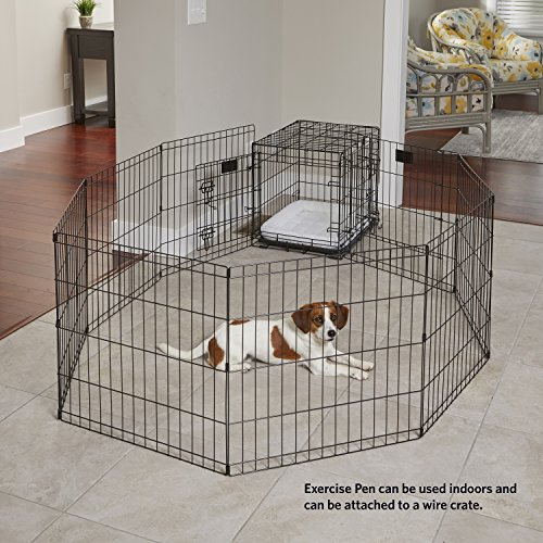 "MidWest Foldable Metal Exercise Pen / Pet Playpen, 24""W x 30""H"