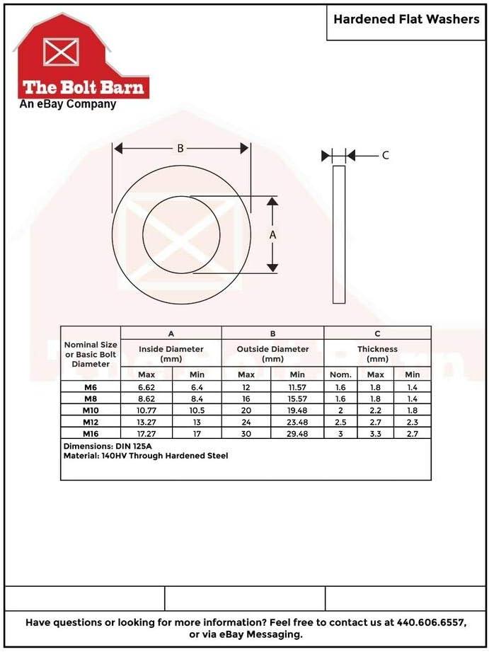 M8-1.25x40 Class 10.9 Hex Cap Screws Hex Bolts 25 Pcs Nuts Washers USA Stocks Lock Washers -