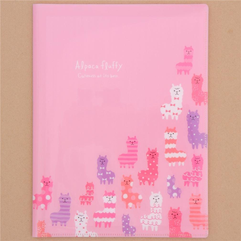 Carpeta archivador A4 rosa graciosa alpaca estampada 10 apartados Mind Wave: Amazon.es: Hogar