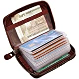 ABYS Genuine Leather Bombay Brown Men Wallet||Business Card Case||Money Purse||Card Holder with Zip Closure
