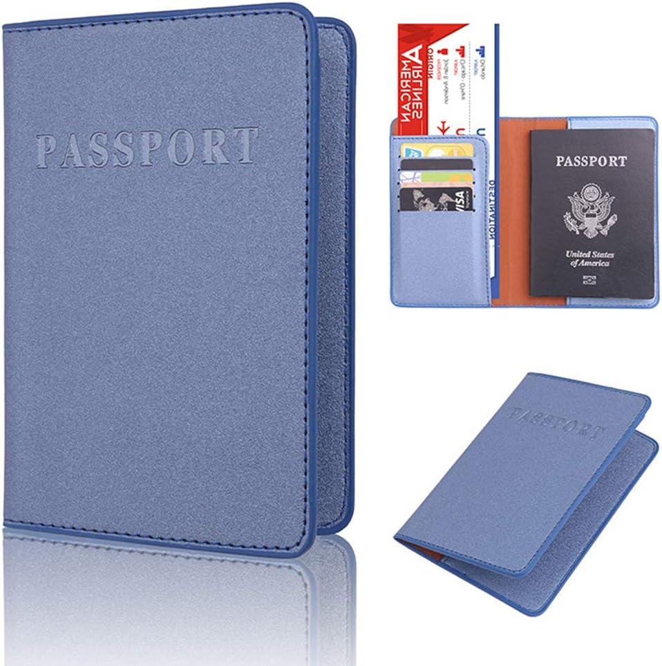 Lisanl /Étui de protection en cuir PU pour passeport kaki