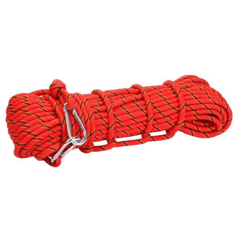 高級感 ハクチョウ(hakucho) 登山 クライミングロープ  ガイロープ  多目的ロープ 太さ10mm メートル 長さ10m レッド/15m/20m/30m/50m/100m 耐荷重300㎏ 収納袋 カラビナ2個付き アウトドア キャンプ 防災 登山 選べる2色 B07FFNQFKG レッド レッド|50.0 メートル, Select Shop サンファン:80649de6 --- a0267596.xsph.ru