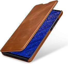 StilGut Housse pour Huawei Mate 20 Book Type en Cuir, Cognac