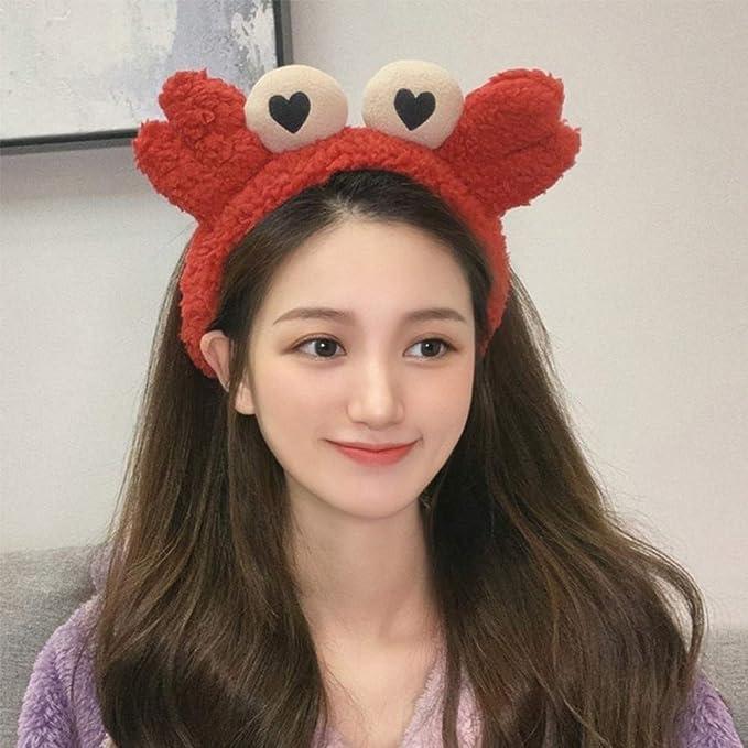 Creative Face Wash Hair Band Cute Snail Headband Cute Funny Hair Hoop Hair