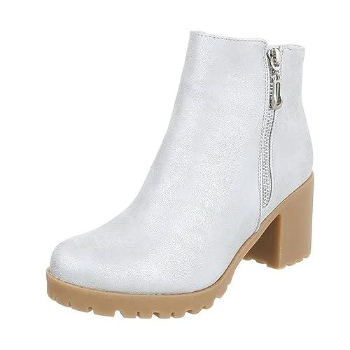 Ital-Design - Zapatos Mujer, gris, 36