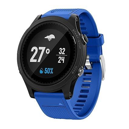 OverDose Correa de Reloj Correa de Banda Suave de instalación rápida para Garmin Forerunner 935 GPS