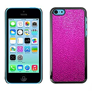 Be Good Phone Accessory // Dura Cáscara cubierta Protectora Caso Carcasa Funda de Protección para Apple Iphone 5C // Pink Fuchsia Texture Pattern