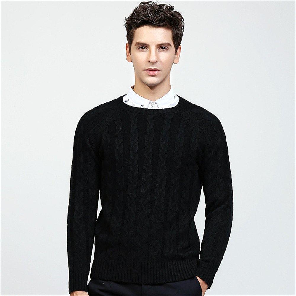 Jdfosvm männer aus Pullover, Winter - und Winter - Mode aus Pullover, Junge britische Pullover,schwarz,XXL