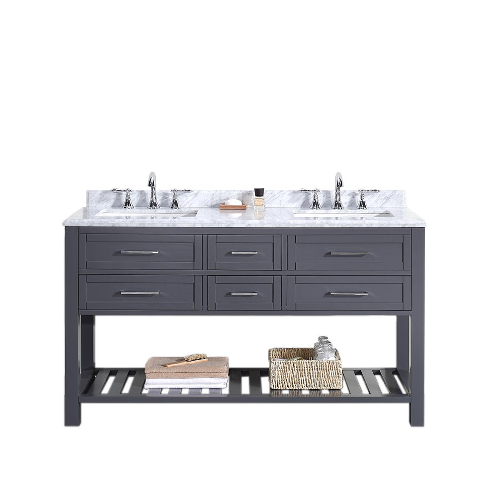 Ove Decors Pasadenas 60 Vanity with Carrera Marble Countertop and ...
