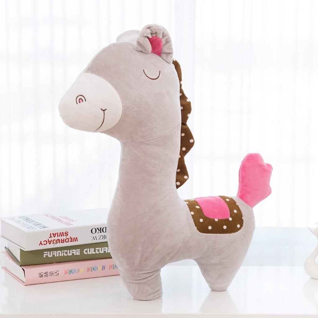 Yang baby Cuscino Peluche Cuscino Peluche Bambola pony Bambino Bambola di stoffa Cuscino San Valentino Regalo di compleanno Ragazza, 38cm (Color : Brown)