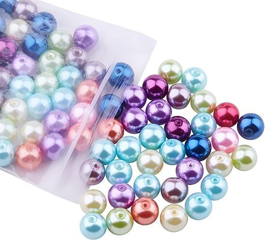 1500PCs Hello Acrylic Pearl Imitation Spacer Beads Ball Round White 8mm Dia.