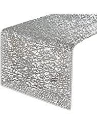 Beau Rectangular Sparkling Sequins Table Runner   PONY DANCE  Party/Wedding/Holiday Table Runner For