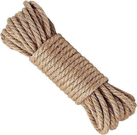 l/'escalade le jardinage le nautisme le tir /à la corde les animaux LUOOV Corde en jute naturelle robuste /Épaisseur 6 mm Longueur 10 /à 40 m Id/éal pour le camping