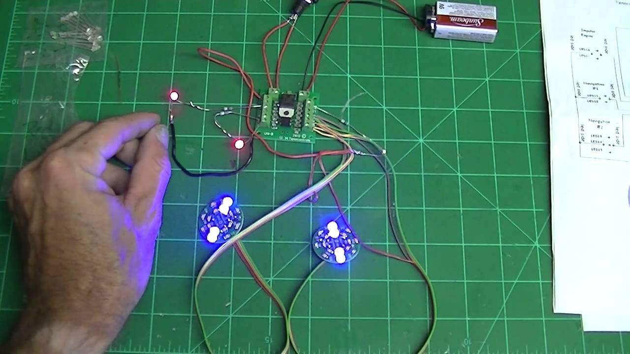 Complete LED/Sound System for Polar Lights 1:350 Klingon K'Tinga Battle Cruiser-ParaGrafix Compatible