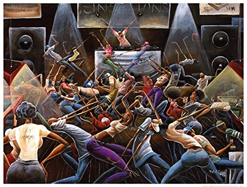 (28x36) Frank Morrison Jump Off Art Print Poster ()